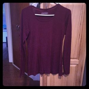Long sleeve Maroon top